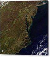 Satellite View Of The Mid-atlantic Acrylic Print