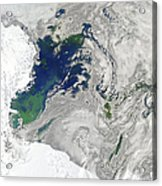 Satellite View Of The Ross Sea Acrylic Print