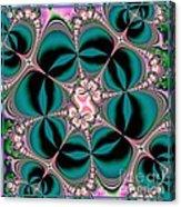 Satin Flowers And Butterflies Fractal 122 Acrylic Print