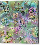 Satin Flowers Acrylic Print