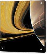 Saturn Glory Acrylic Print