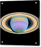 Saturn, Ultraviolet Hst Image Acrylic Print