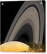 Saturn View 2 Acrylic Print
