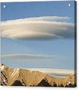 Saucer-shaped Cloud, Kootenay Plains Acrylic Print