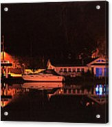 Saugatuck Chain Ferry Acrylic Print by James Rasmusson