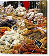 Sausages For Sale Acrylic Print