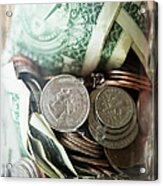 Savings In Jar Acrylic Print