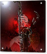 Sax World Acrylic Print