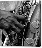 Saxophone Plaayer Acrylic Print