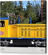 Scale Locomotive - Traintown Sonoma California - 5d19237 Acrylic Print by Wingsdomain Art and Photography