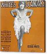 Scandals Songsheet, 1928 Acrylic Print