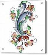 Scandinavian Flower I Acrylic Print