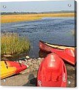 Scarborough Marsh Kayaks Maine Acrylic Print