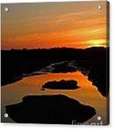 Scarborough Marsh Sunset 1 Acrylic Print