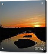 Scarborough Marsh Sunset 2 Acrylic Print
