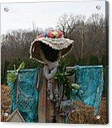 Scarecrow Garden Art Acrylic Print