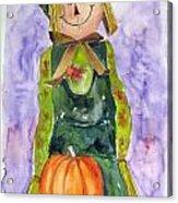 Scarecrow Acrylic Print by John Smeulders