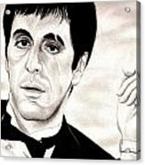 Scarface Acrylic Print by Michael Mestas