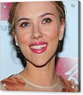 Scarlett Johansson At Arrivals For New Acrylic Print by Everett