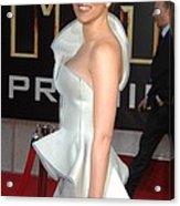 Scarlett Johansson Wearing An Armani Acrylic Print