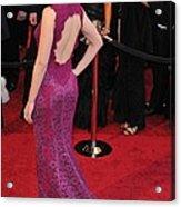 Scarlett Johansson Wearing Dolce & Acrylic Print