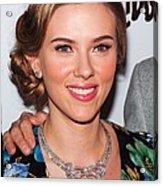 Scarlett Johansson Wearing Van Cleef & Acrylic Print