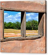 Scene From A Priests Window Acrylic Print