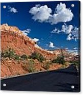 Scenic Drive Through Capitol Reef National Park Acrylic Print