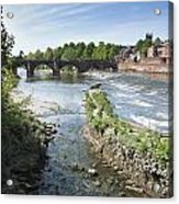 Scenic Landscape With Old Dee Bridge Acrylic Print