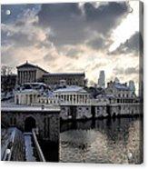 Scenic Philadelphia Winter Acrylic Print