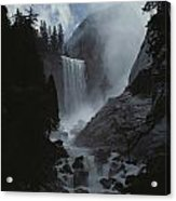 Scenic View Of Vernal Fall Acrylic Print