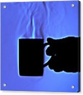 Schlieren Image Of Hot Coffee Cup Acrylic Print