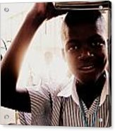 School Boy Acrylic Print