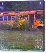 School Bus Out To Pasture Acrylic Print by Judi Bagwell
