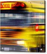 School Bus Rush Acrylic Print