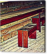 School House Benched And Dusted Acrylic Print