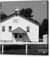 School House In Black And White Acrylic Print