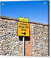 School Parking Sign Acrylic Print