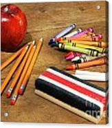 School Supplies  Acrylic Print