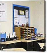 School Teachers Desk Acrylic Print