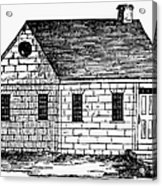 Schoolhouse, 18th Century Acrylic Print