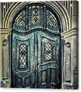 Schoolhouse Entrance Acrylic Print by Jutta Maria Pusl
