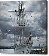Schooner In Halifax Harbor Acrylic Print