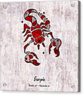 Scorpio Artwork Acrylic Print