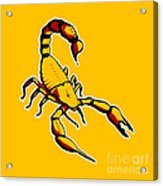 Scorpion Graphic  Acrylic Print by Pixel Chimp