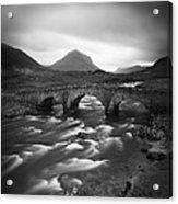 Scotland Sligachan River Acrylic Print by Nina Papiorek