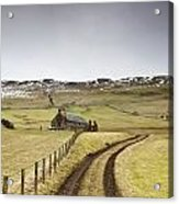 Scottish Borders, Scotland Tire Tracks Acrylic Print by John Short
