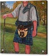 Scottish Golfer Acrylic Print by Phyllis Barrett