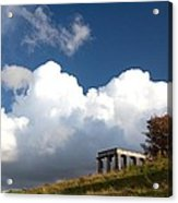 Scottish National Monument On Calton Hill Acrylic Print by Steven Gray