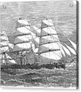 Screw Steamship, 1864 Acrylic Print